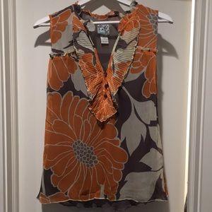 Anthropology Tabitha floral silk blouse
